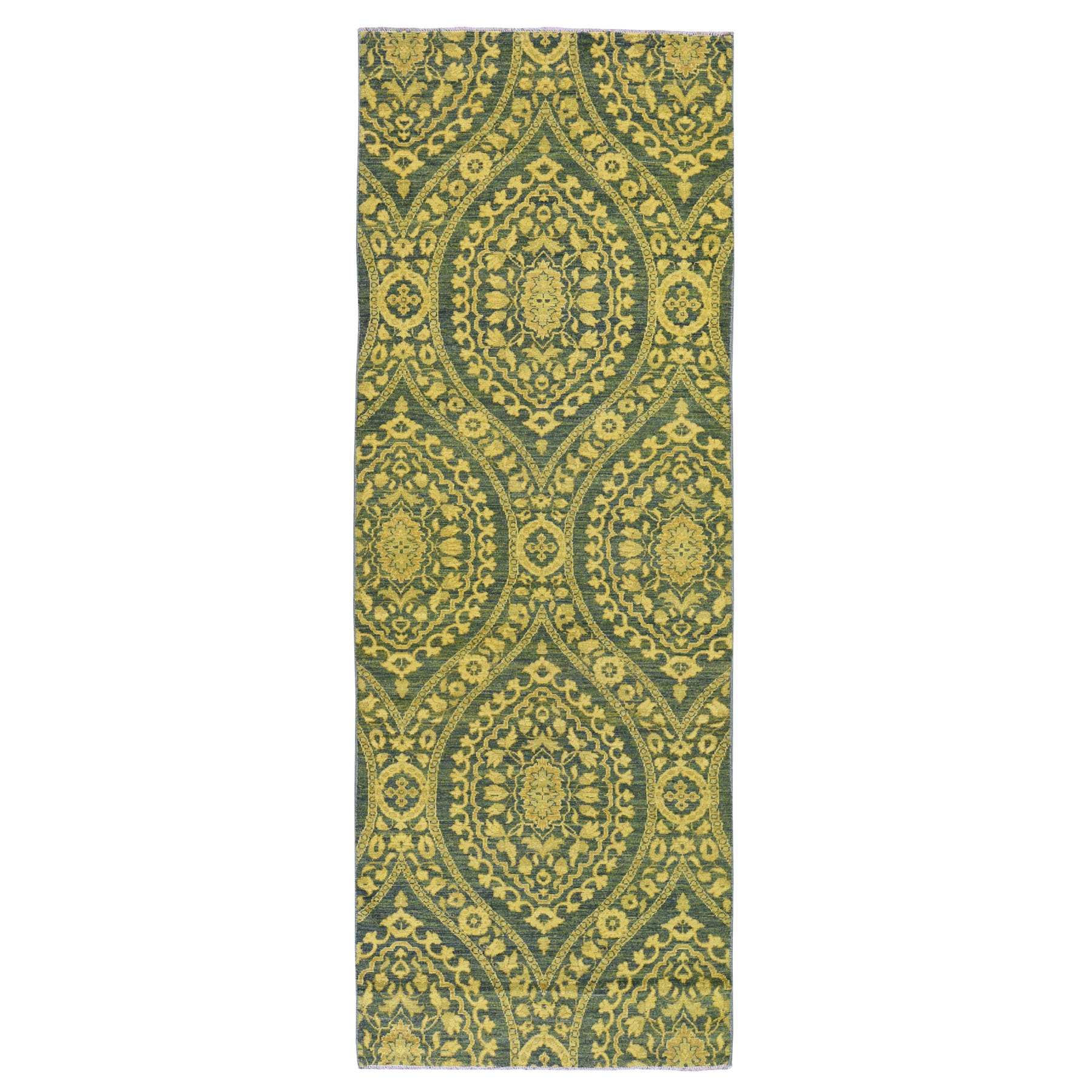 Oushak-And-Peshawar-Hand-Knotted-Rug-236860