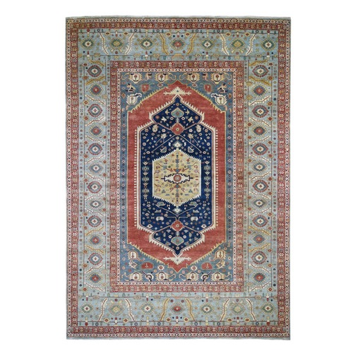 Hand Knotted Antiqued Bakshaish Re creation Pure Wool Oriental