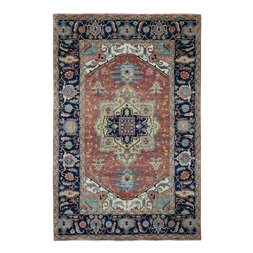 Antiqued Heriz Re Creation Pure Wool Hand knotted Oriental Rug