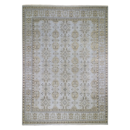 Oversized Turkish Knot Oushak Design Hand-Knotted Pure Wool Oriental