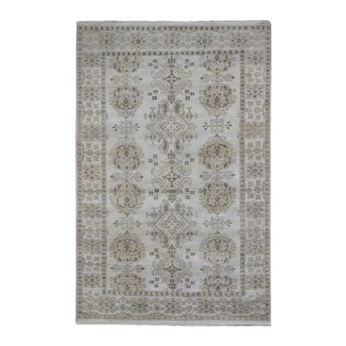 Turkish Knot Oushak Design Hand-Knotted Pure Wool Oriental