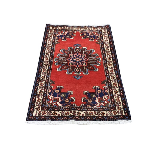 Red New Persian Bakhtiari Pure Wool Hand Knotted Oriental Rug