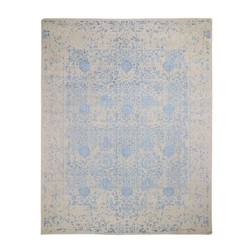 Hand Loomed Broken Mughal Design Tone on Tone Oriental Rug