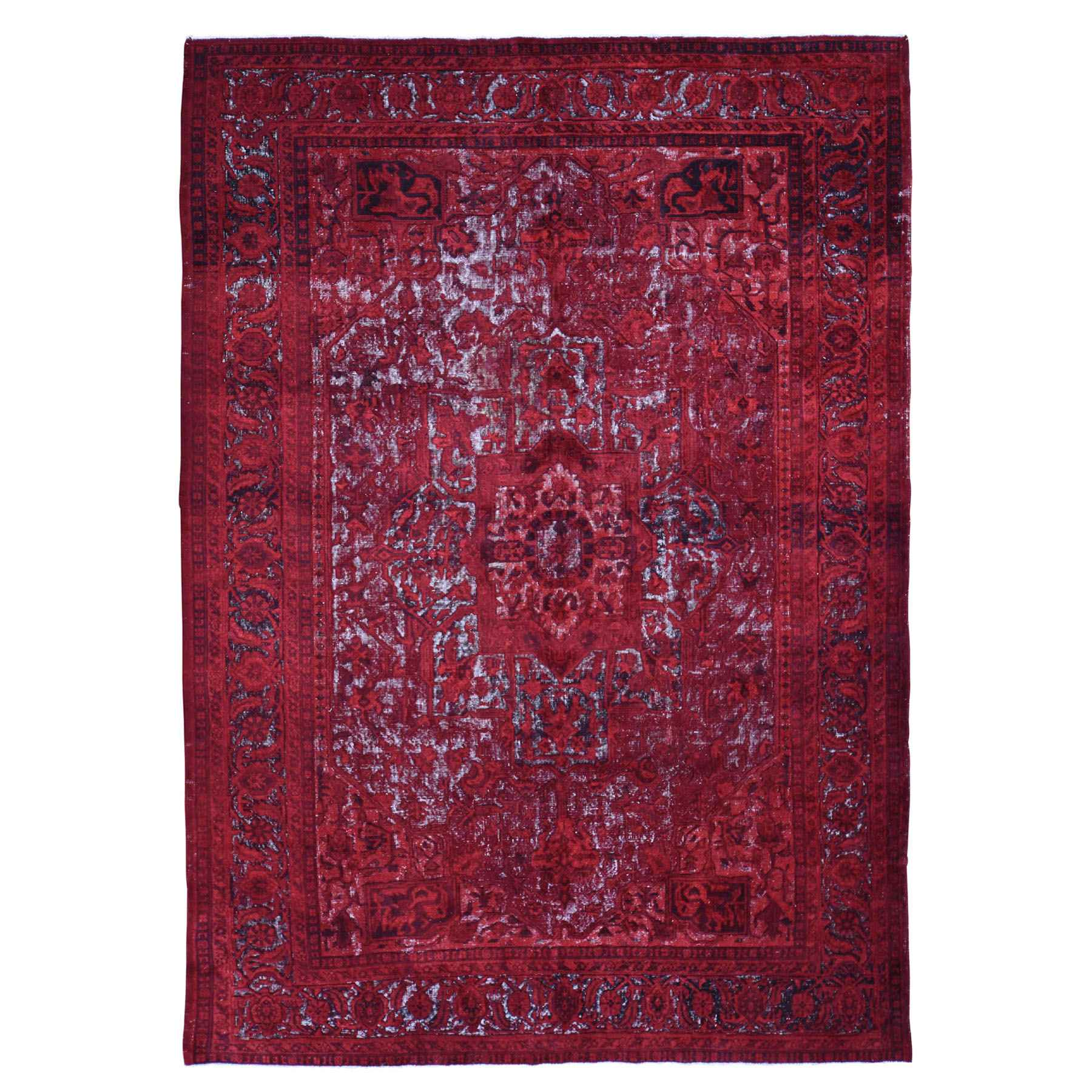 Overdyed-Vintage-Hand-Knotted-Rug-245155