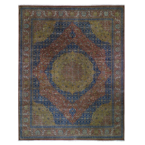 Oversized Tabriz 300 KPSI New Zealand Wool Hand Knotted Oriental