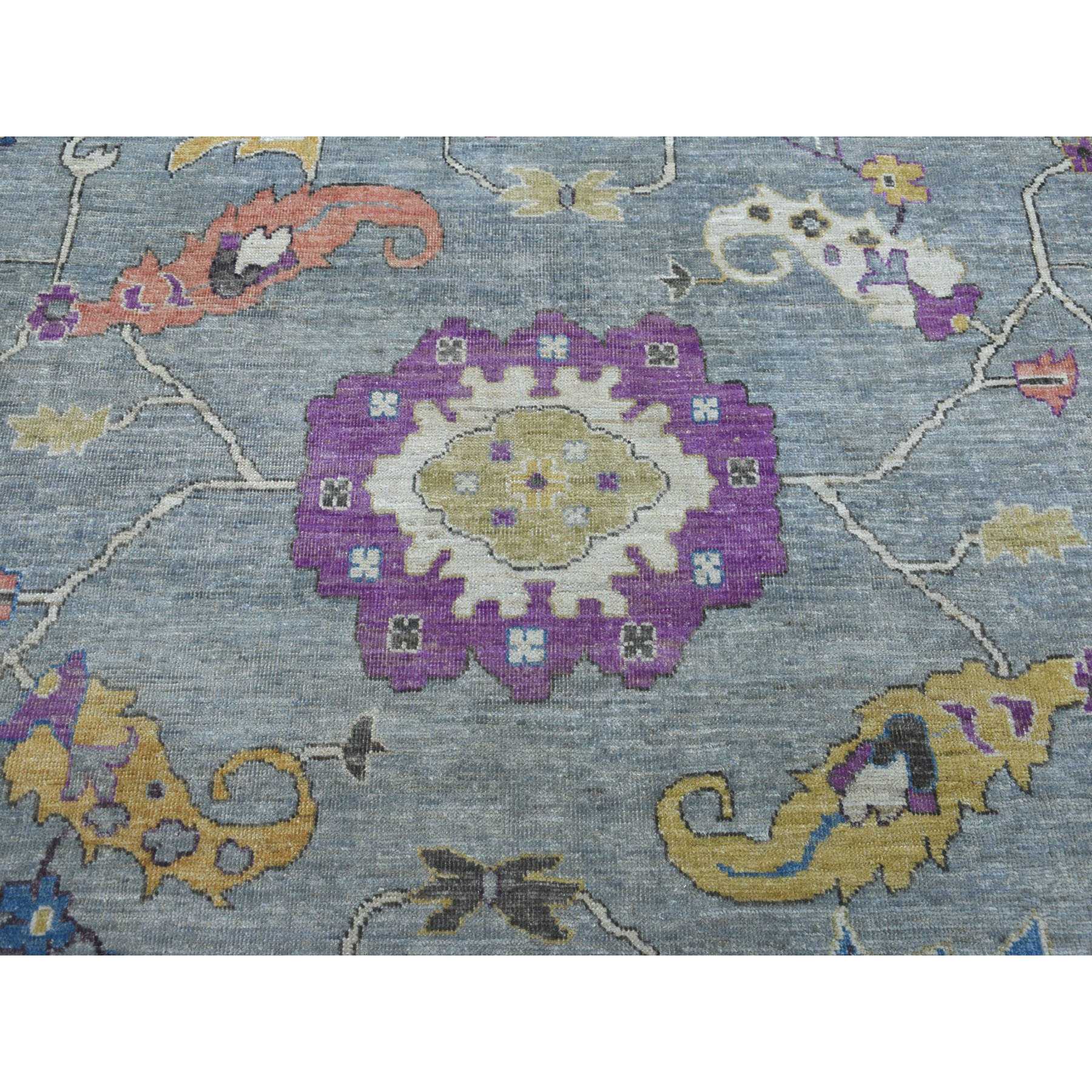 Oushak-And-Peshawar-Hand-Knotted-Rug-255600