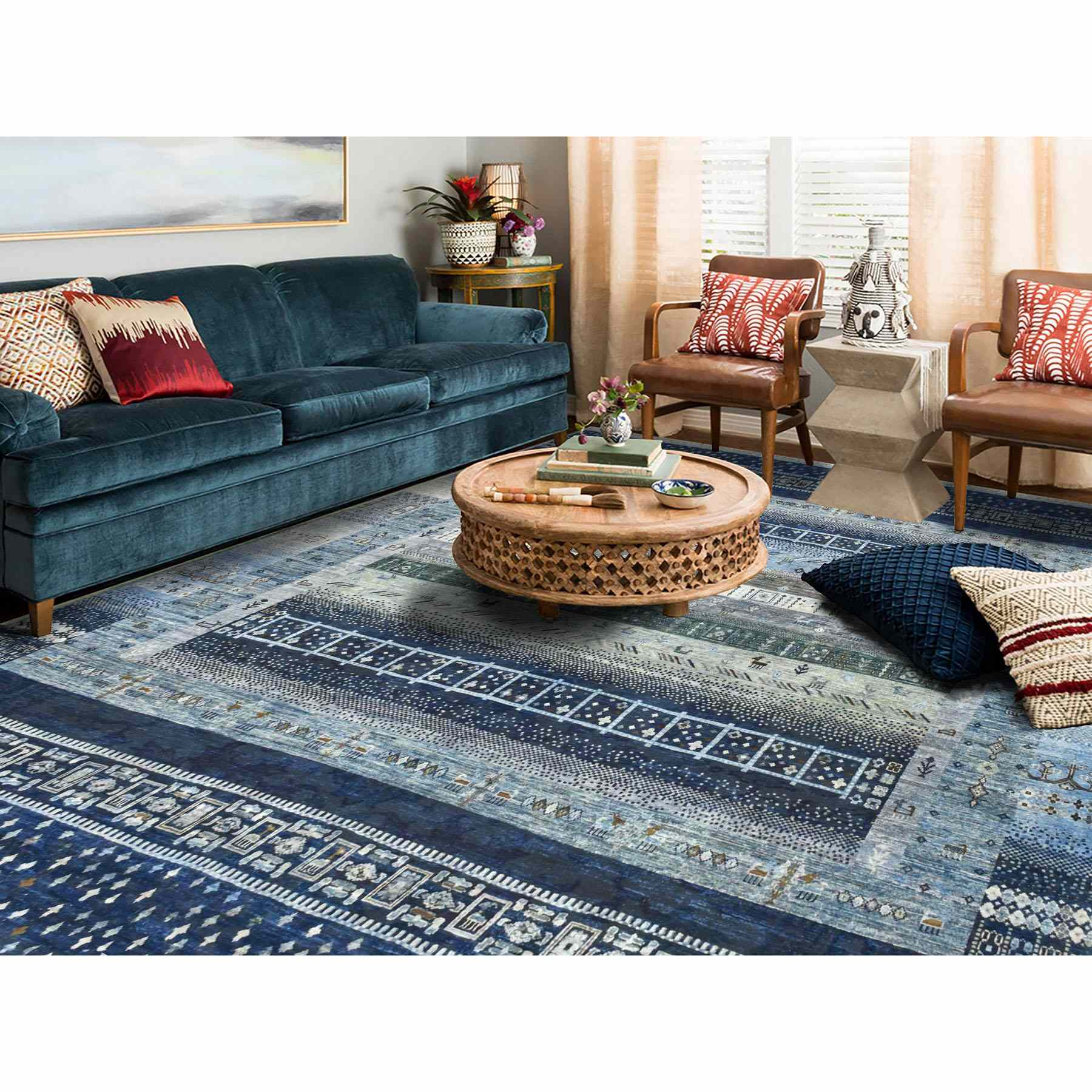 Tribal-Geometric-Hand-Knotted-Rug-256025