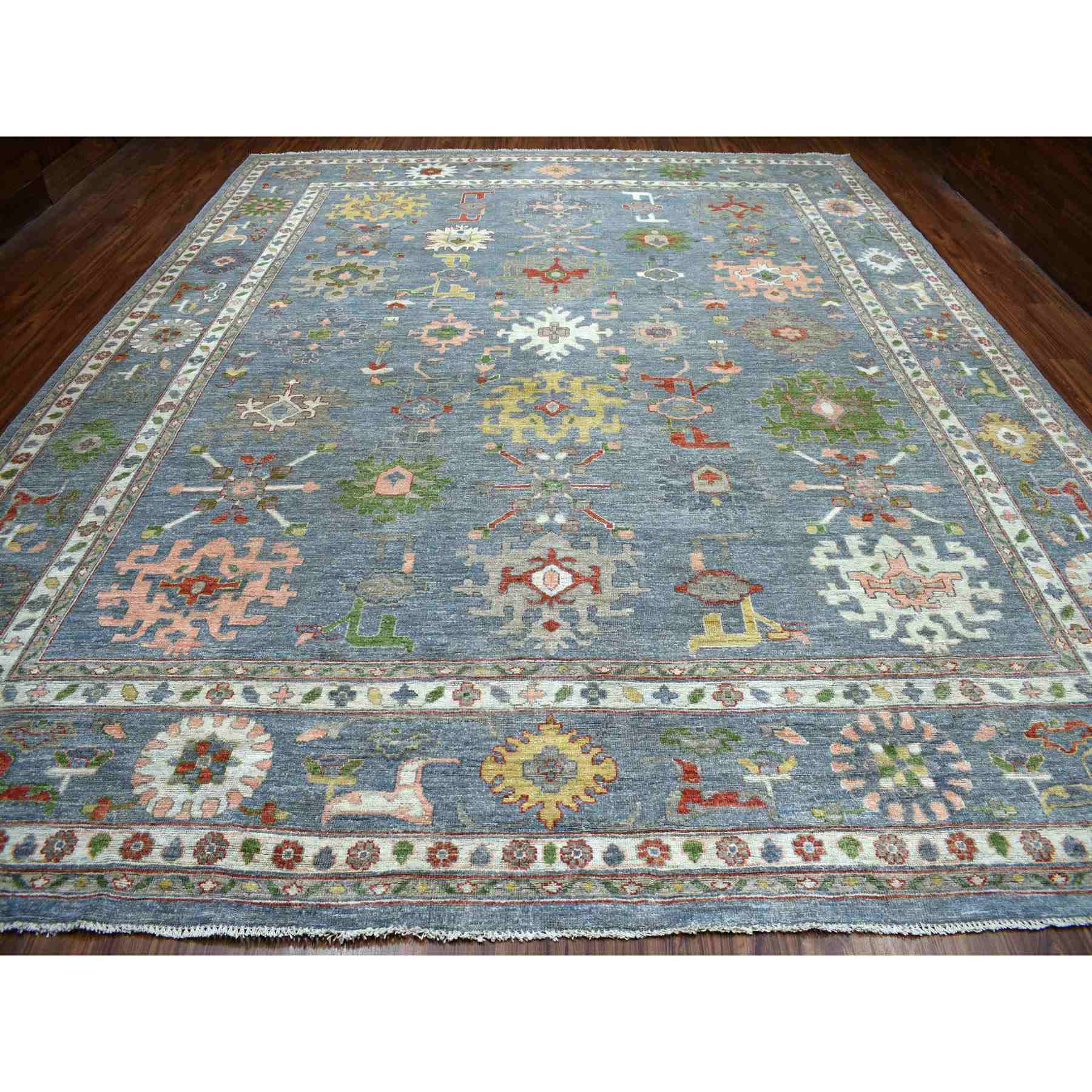 Oushak-And-Peshawar-Hand-Knotted-Rug-257895