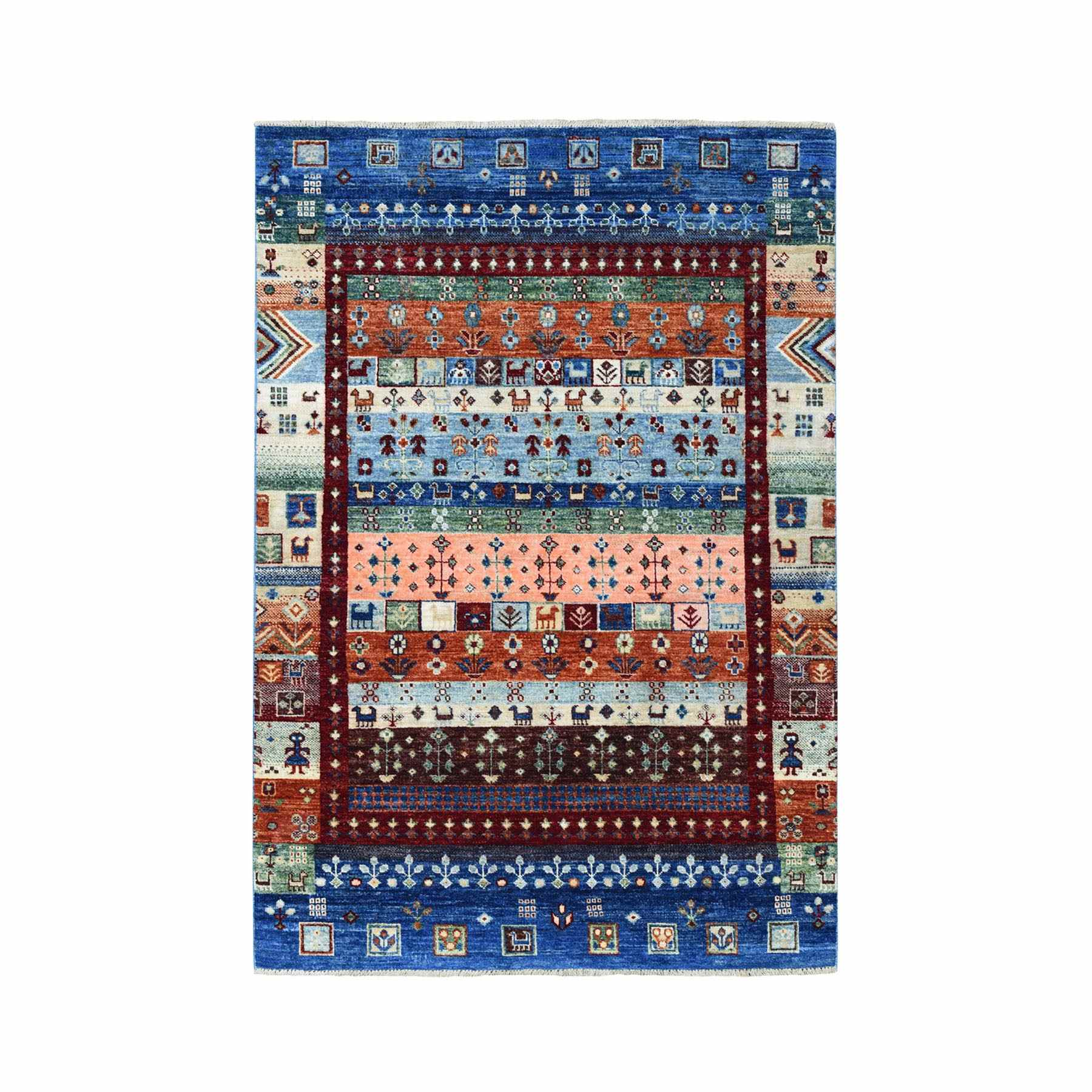 Tribal-Geometric-Hand-Knotted-Rug-258090