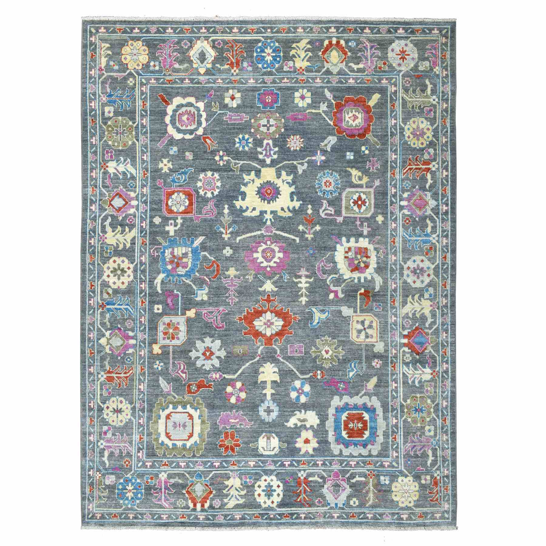 Oushak-And-Peshawar-Hand-Knotted-Rug-262400