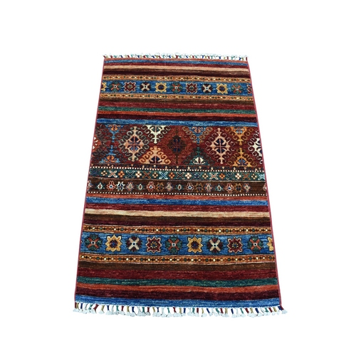 Khorjin Design Colorful Super Kazak Pure Wool Hand Knotted Oriental