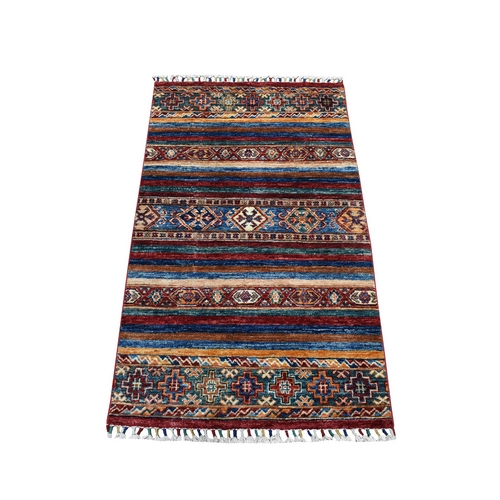 Khorjin Design Colorful Super Kazak Pure Wool Hand Knotted Oriental Rug