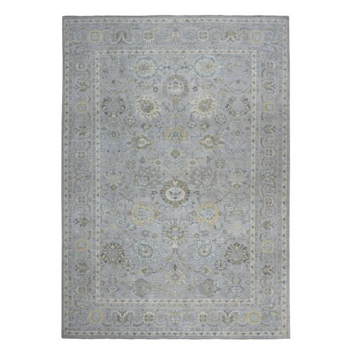 Oversized White Wash Peshawar 100% Wool Hand Knotted Oriental Rug