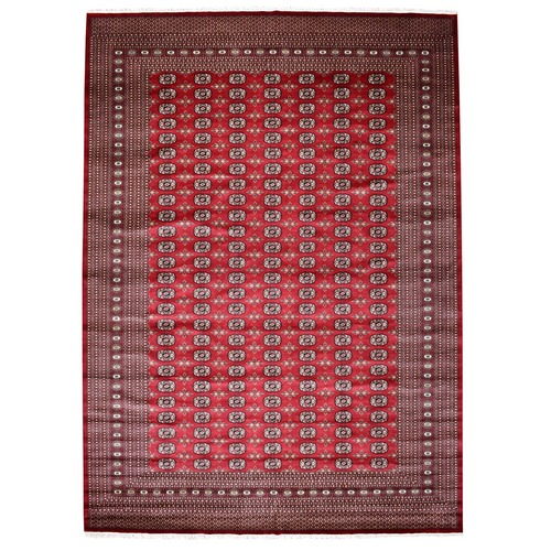 Red Super Fine Mori Bokara Elephant Feet Design Hand Knotted Oriental Rug