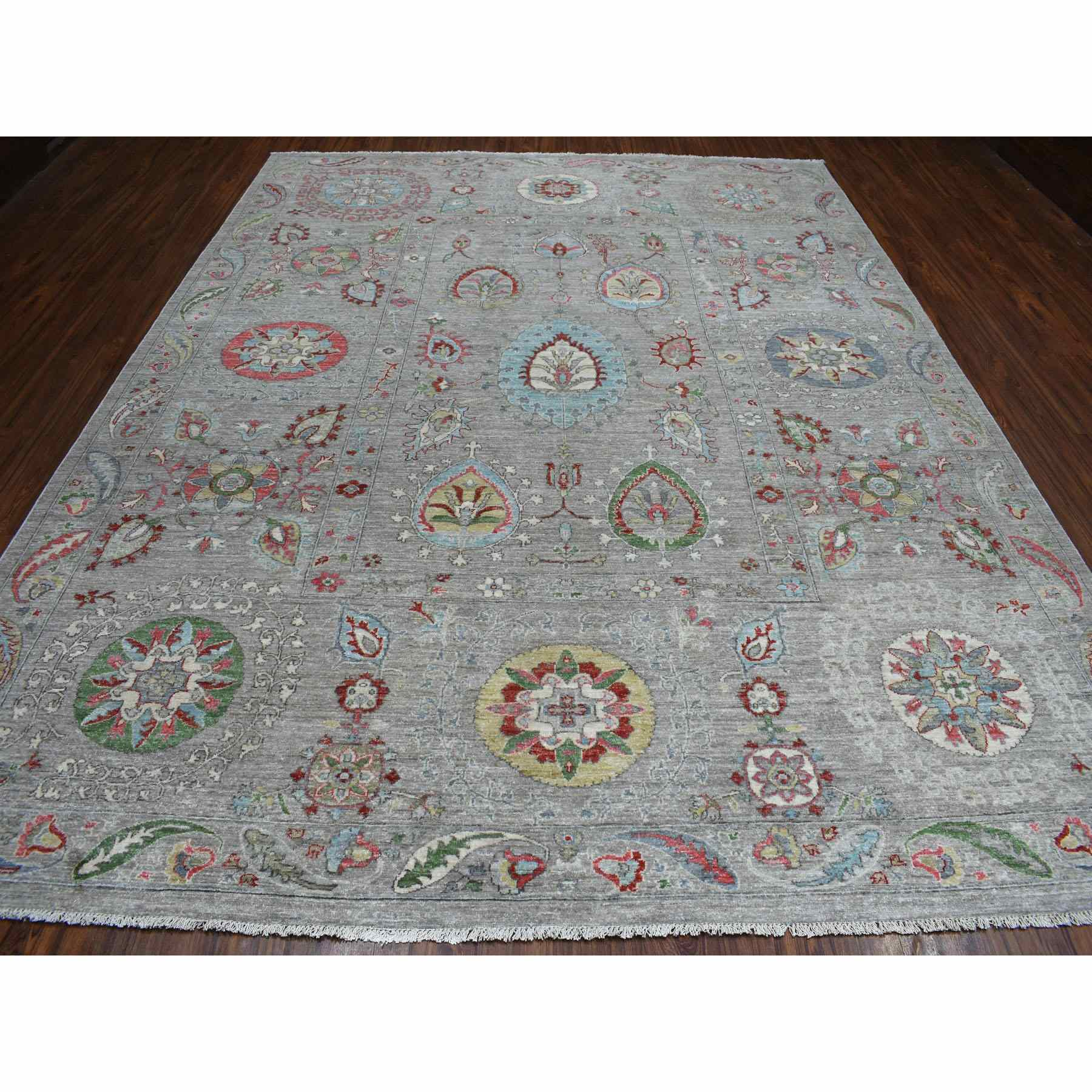 Oushak-And-Peshawar-Hand-Knotted-Rug-270665
