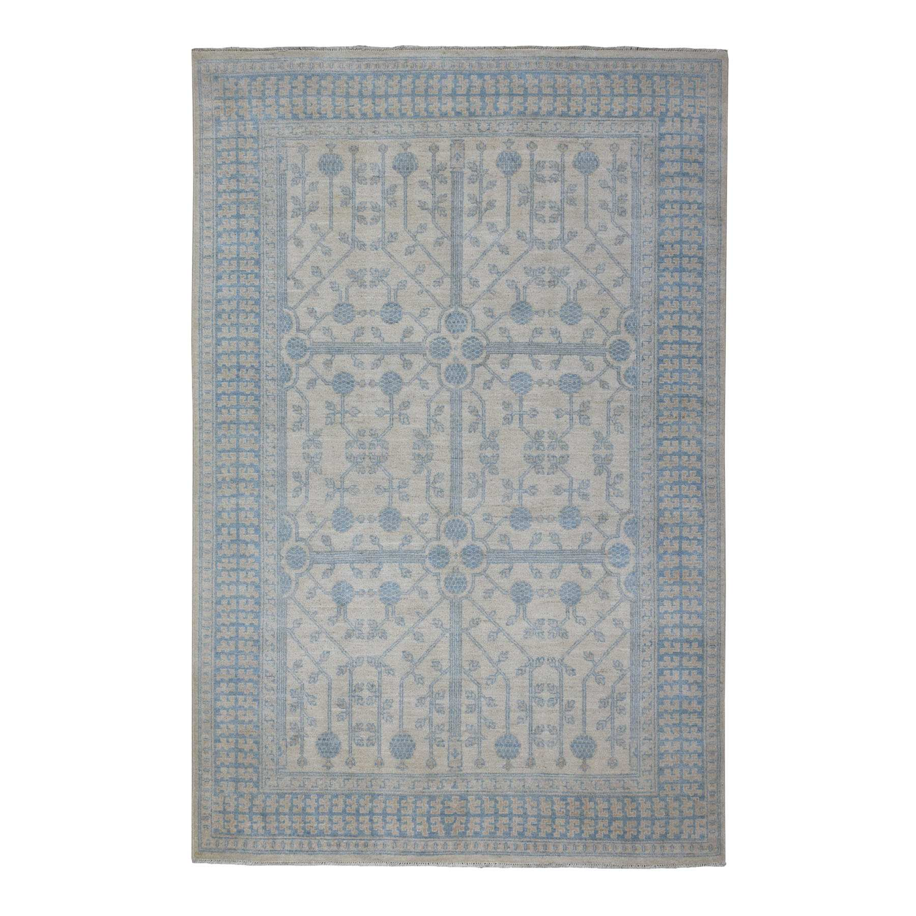 Oushak-And-Peshawar-Hand-Knotted-Rug-271455