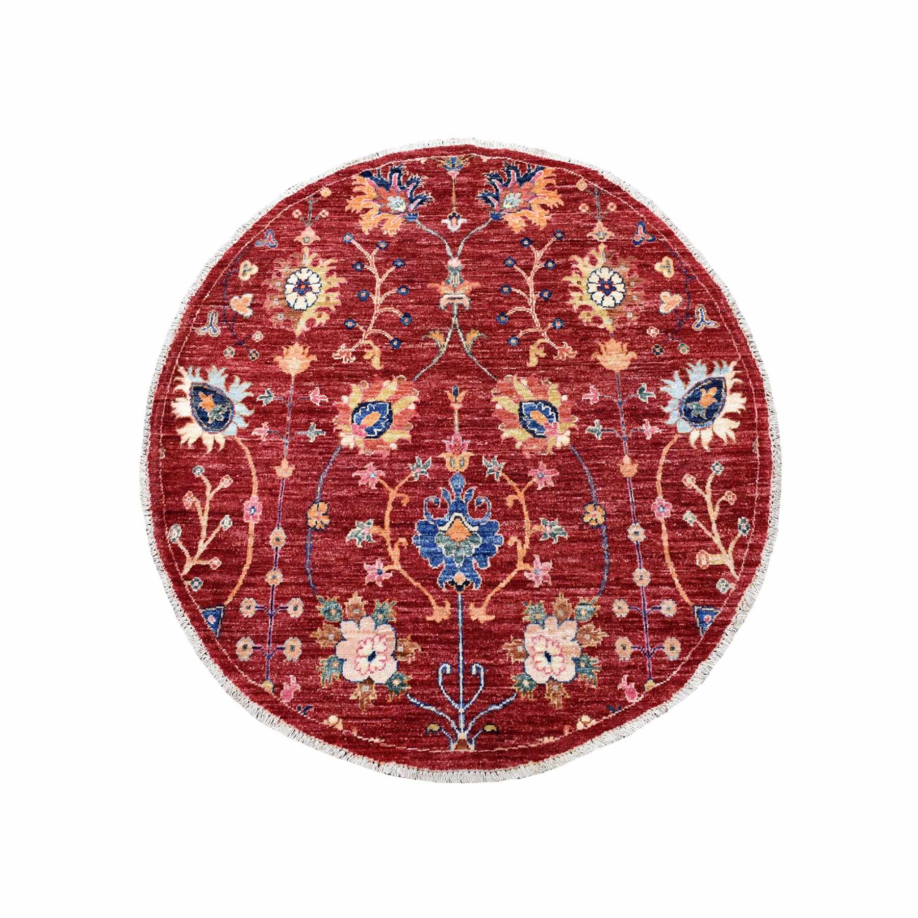 Oushak-And-Peshawar-Hand-Knotted-Rug-275355