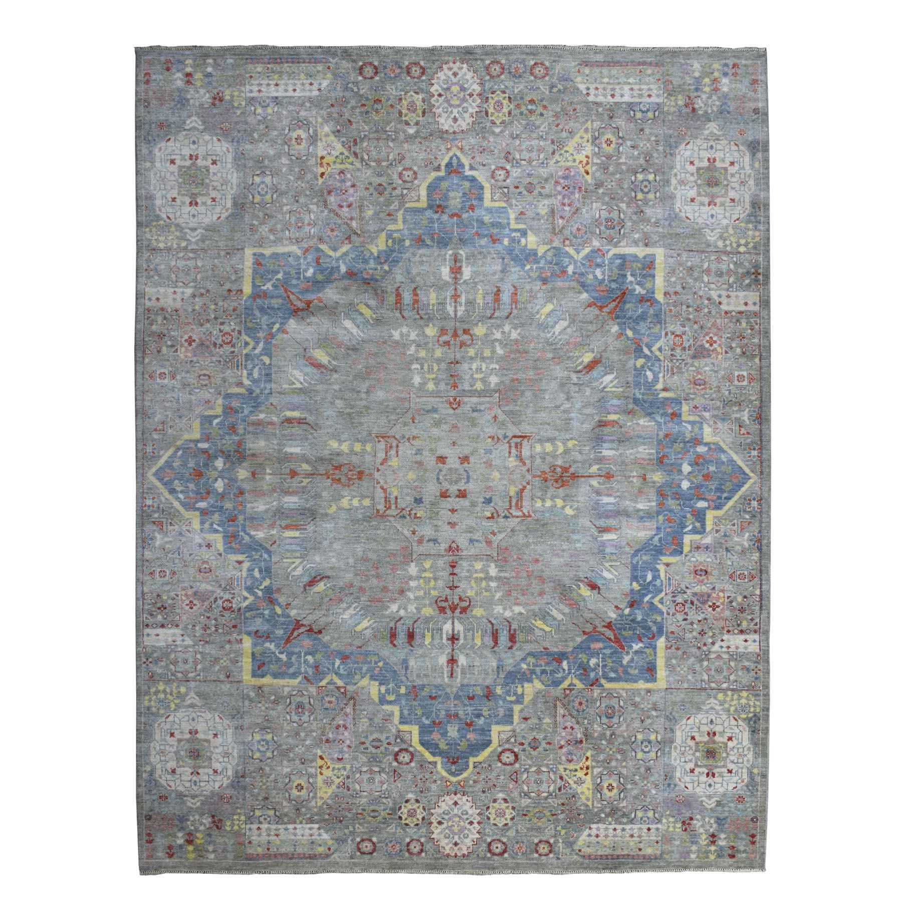 Oushak-And-Peshawar-Hand-Knotted-Rug-275795