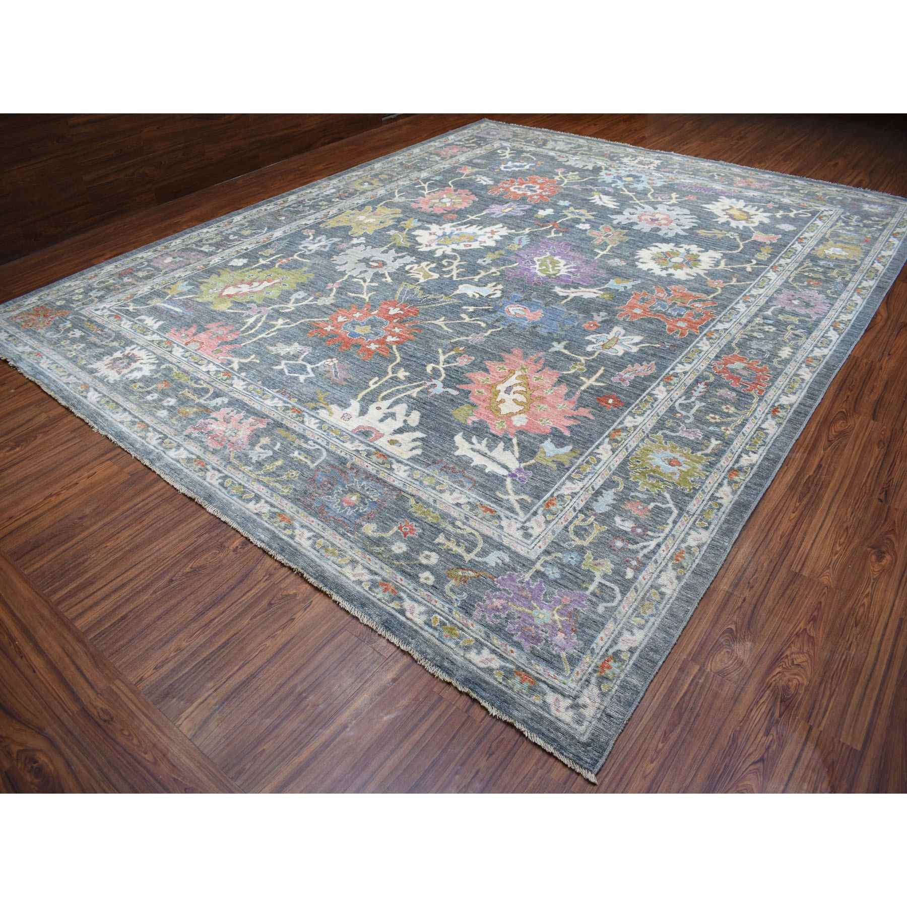 Oushak-And-Peshawar-Hand-Knotted-Rug-279015