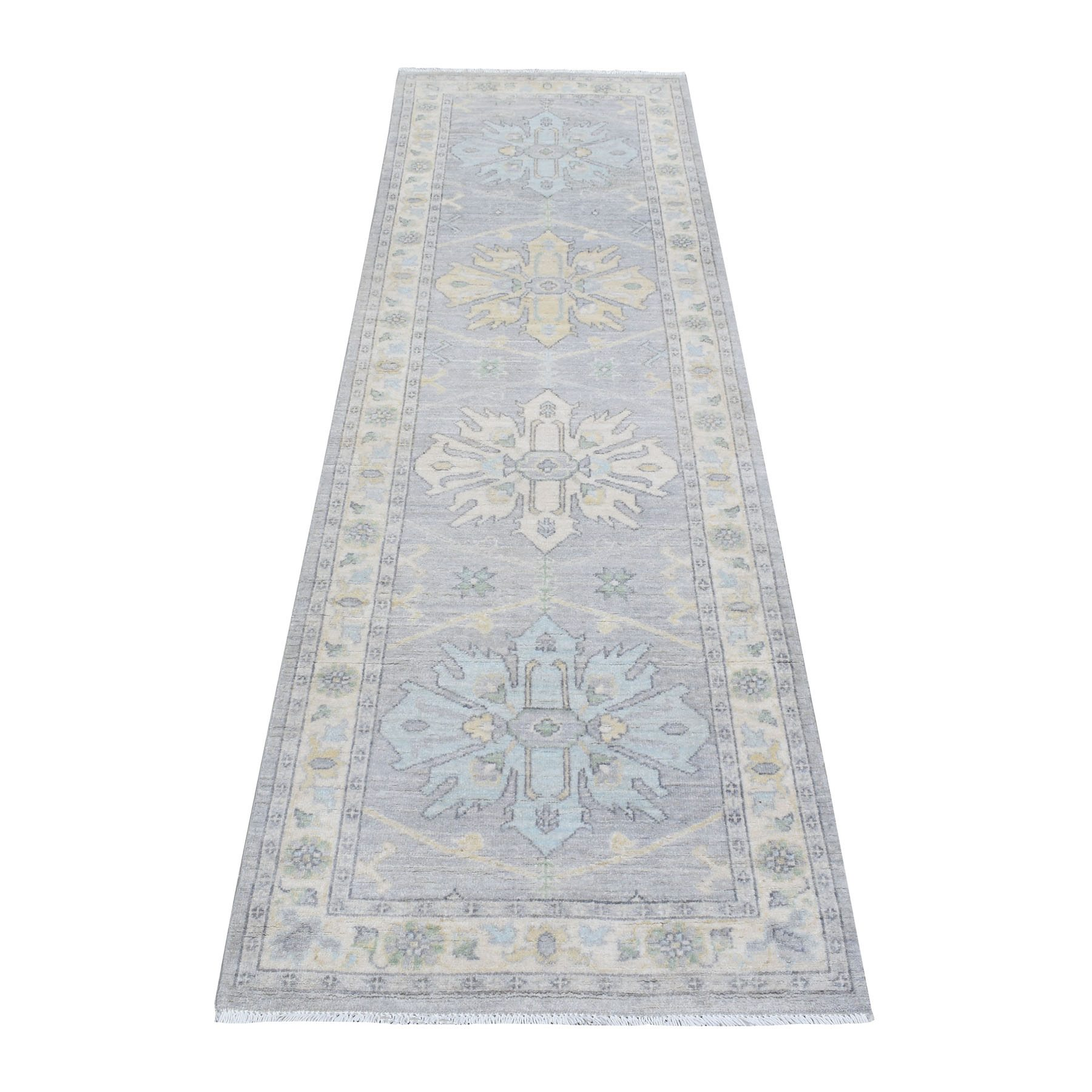 Oushak-And-Peshawar-Hand-Knotted-Rug-279665