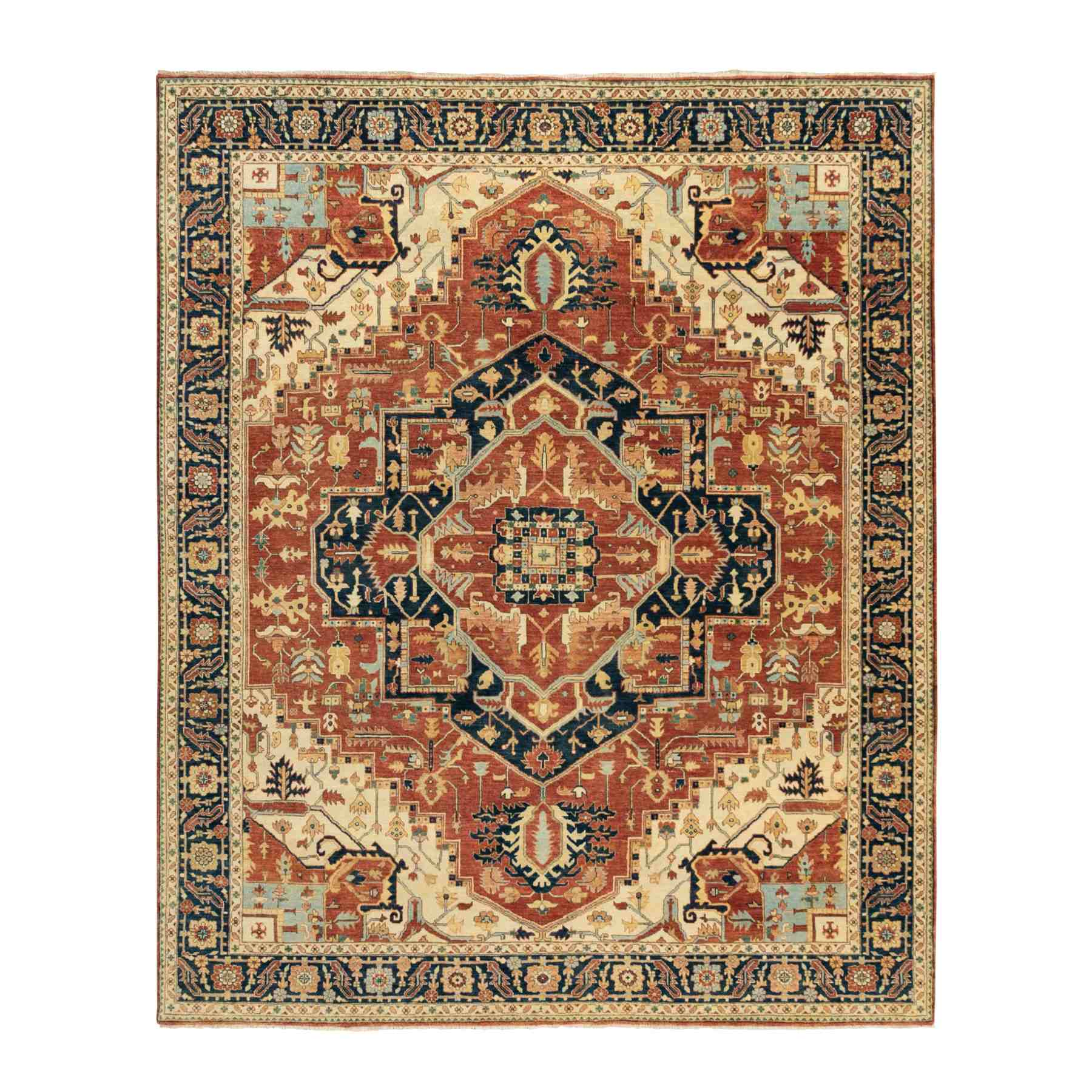 Heriz-Hand-Knotted-Rug-294915