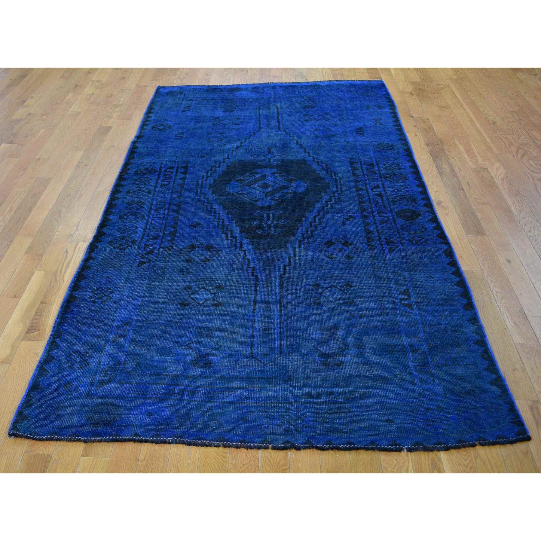 Overdyed-Vintage-Hand-Knotted-Rug-295925