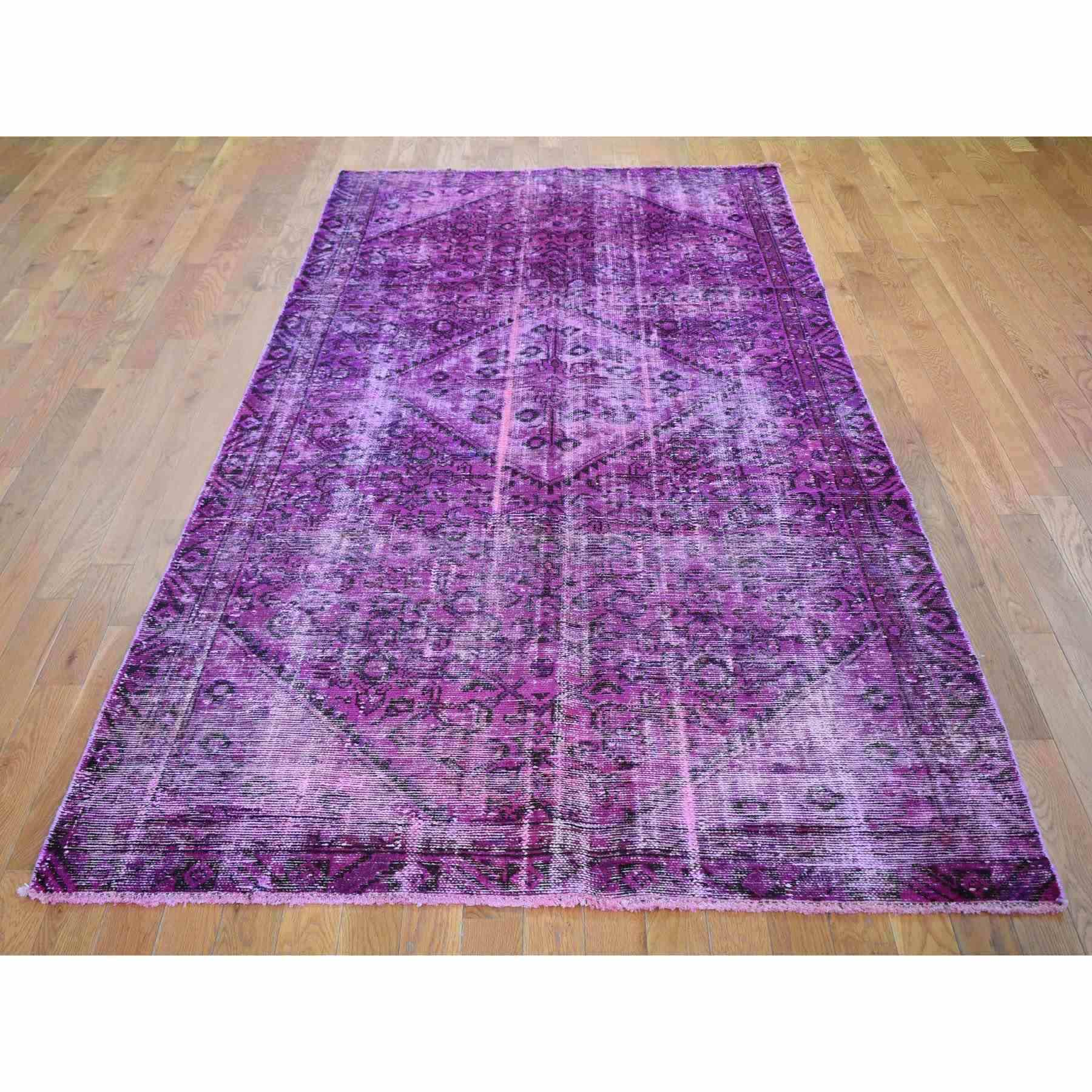 Overdyed-Vintage-Hand-Knotted-Rug-295990